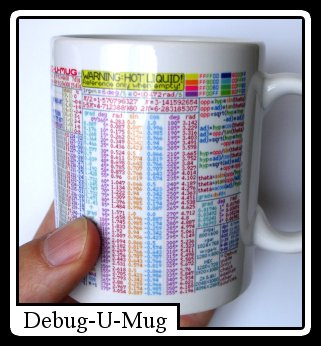 A quick ref mug for programmers.
